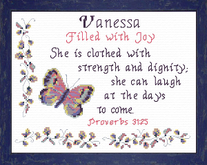 Name Blessings -  Vanessa | Crafting | Cross-Stitch | Religious