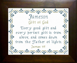 name blessings -  jameson