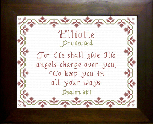 Name Blessings -  Elliotte | Crafting | Cross-Stitch | Religious