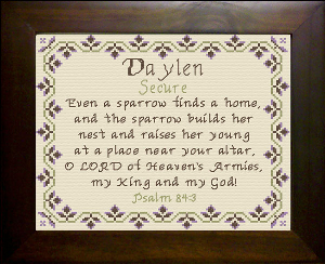 Name Blessings -  Daylen | Crafting | Cross-Stitch | Other