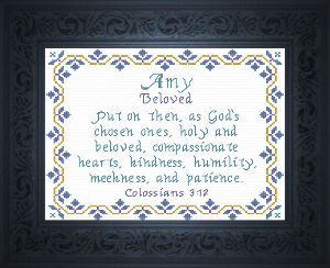 Name Blessings -  Amy 2 | Crafting | Cross-Stitch | Religious