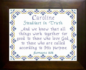 Name Blessings -  Caroline | Crafting | Cross-Stitch | Other