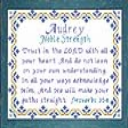 Name Blessings -  Audrey | Crafting | Cross-Stitch | Religious