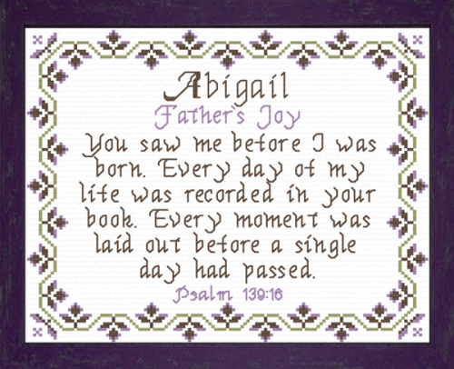 First Additional product image for - Name Blessings -  Abigail 6
