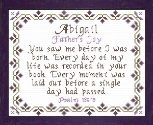 Name Blessings -  Abigail 6 | Crafting | Cross-Stitch | Religious