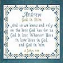 Name Blessings - Andrew 7 | Crafting | Cross-Stitch | Religious