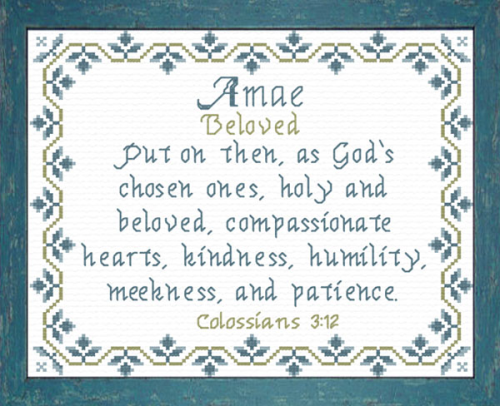 First Additional product image for - Name Blessings - Amae