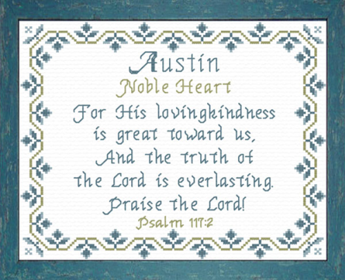 First Additional product image for - Name Blessings -  Austin