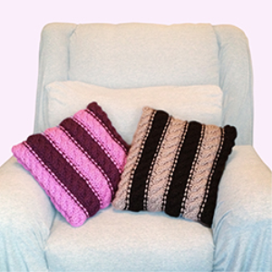 Those '70s Pillows Knitting Pattern | Crafting | Knitting | Other