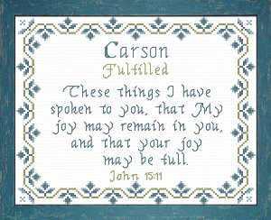Name Blessings -  Carson 3 | Crafting | Cross-Stitch | Religious