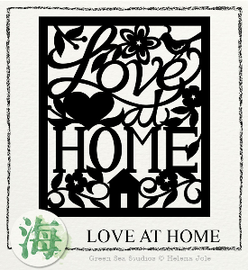 Love at Home Papercut SVG | Crafting | Paper Crafting | Other