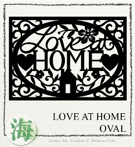 Love at Home Oval Papercut SVG | Crafting | Paper Crafting | Home Decor