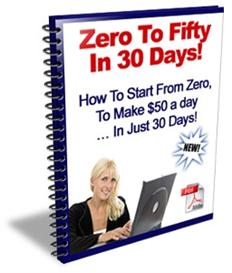 Zero to Fifty in 30 Days With Master Resale Rights | eBooks | Business and Money
