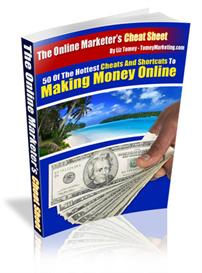 The Online Marketers Cheat Sheet - 50 Hot Cheats And Shortucts To Maki | eBooks | Internet