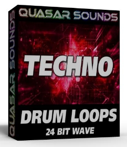 techno drum loops 24 bit wave
