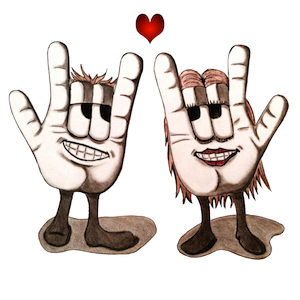 falling in love couple sign language
