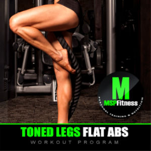 toned legs flat abs | workout plan
