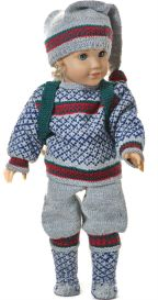 DollKnittingPattern 0140D CECIL - weater, Pants, Cap, Socks and Back sack-(English) | Crafting | Knitting | Other