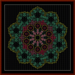 Fractal 535 cross stitch pattern by Cross Stitch Collectibles | Crafting | Cross-Stitch | Wall Hangings