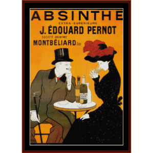 Absinthe - Vintage Poster cross stitch pattern by Cross Stitch Collectibles | Crafting | Cross-Stitch | Wall Hangings