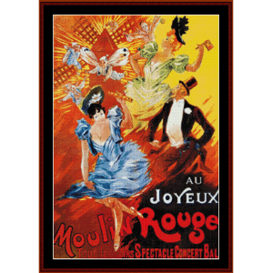 Au Joyeux Moulin Rouge - Vintage Poster cross stitch pattern by Cross Stitch Collectibles | Crafting | Cross-Stitch | Wall Hangings