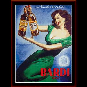 Bardi - Vintage Poster cross stitch pattern by Cross Stitch Collectibles | Crafting | Cross-Stitch | Other