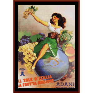 Boccasile Adani - Vintage Poster cross stitch pattern by Cross Stitch Collectibles | Crafting | Cross-Stitch | Wall Hangings