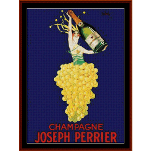 Champagne Joseph Perrier - Vintage Poster cross stitch pattern by Cross Stitch Collectibles | Crafting | Cross-Stitch | Wall Hangings
