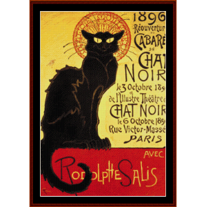 Chat Noir Cabaret - Vintage Poster cross stitch pattern by Cross Stitch Collectibles | Crafting | Cross-Stitch | Other