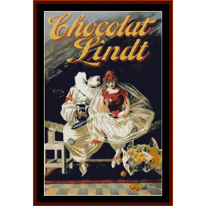 Chocolat Lindt - Vintage Poster cross stitch pattern by Cross Stitch Collectibles | Crafting | Cross-Stitch | Wall Hangings