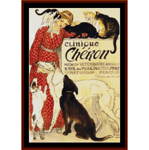 Clinique Cheron - Vintage Poster cross stitch pattern by Cross Stitch Collectibles | Crafting | Cross-Stitch | Wall Hangings