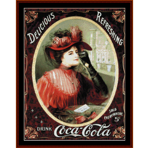 Coca Cola Poster - Vintage Poster cross stitch pattern by Cross Stitch Collectibles | Crafting | Cross-Stitch | Wall Hangings