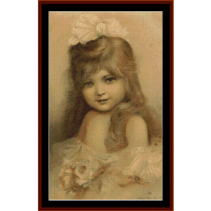 Young Girl - Vintage Poster cross stitch pattern by Cross Stitch Collectibles | Crafting | Cross-Stitch | Wall Hangings