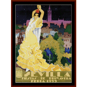 Sevilla - Vintage Poster cross stitch pattern by Cross Stitch Collectibles | Crafting | Cross-Stitch | Other