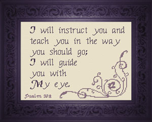 I Will Guide You | Crafting | Cross-Stitch | Religious