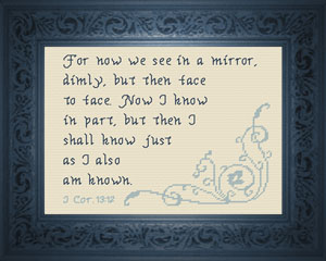 We See in a Mirror Dimly | Crafting | Cross-Stitch | Religious