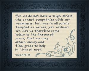 Throne of Grace | Crafting | Cross-Stitch | Religious