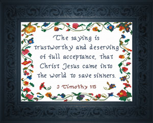 Save Sinners | Crafting | Cross-Stitch | Religious