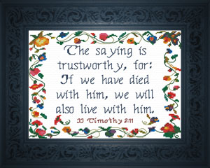 Live With Him | Crafting | Cross-Stitch | Religious