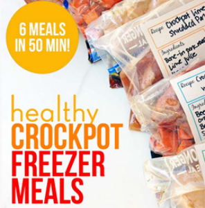 Three Healthy Freezer CrocPot Meals in 50 Minutes | eBooks | Food and Cooking