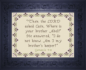 Brother's Keeper? | Crafting | Cross-Stitch | Other