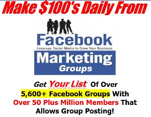 facebook groups marketing list