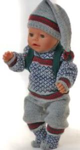 dollknittingpatterns 0140d cecil - trui, lange broek, muts, sokjes en rugzak-(nederlands)