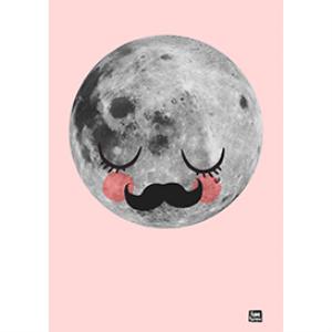 sleepy moon poster - size a1