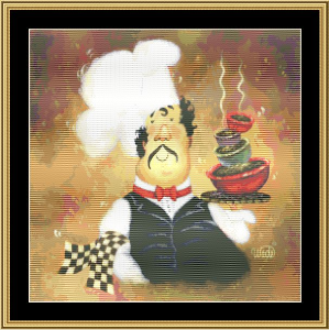 Bow Tie Chef | Crafting | Cross-Stitch | Wall Hangings