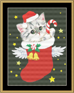 Angel Santa III | Crafting | Cross-Stitch | Wall Hangings