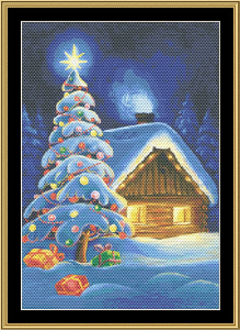 Christmas Tree V | Crafting | Cross-Stitch | Wall Hangings