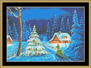 Christmas Tree III | Crafting | Cross-Stitch | Wall Hangings
