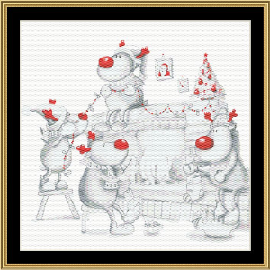 Reindeer Games | Crafting | Cross-Stitch | Wall Hangings