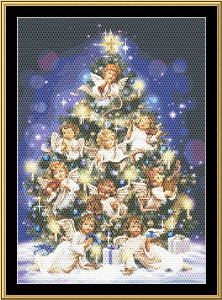 Angel Tree | Crafting | Cross-Stitch | Wall Hangings